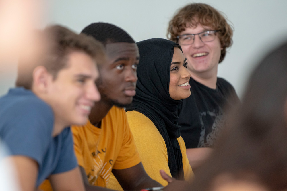 Students in the classroom at UConn